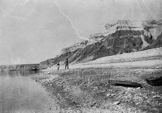 Берег Волги южнее Нижней Банновки, 1891 год